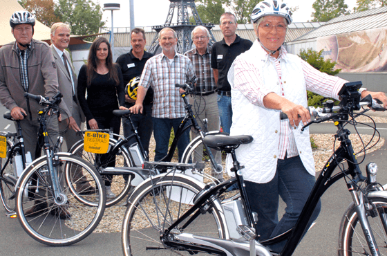 Teilnehmer des Programm Fit mit dem Fahrrad
